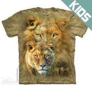 アフリカンロイヤリティ キッズTシャツ (ライオン)