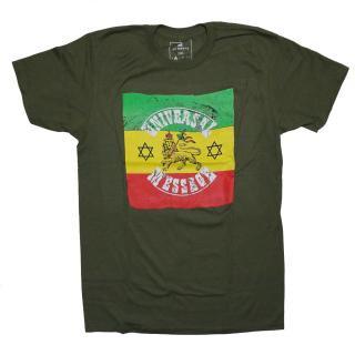 ユニバーサルメッセージ ライオン Tシャツ(緑)
