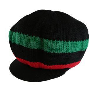 アフロ ニット タム ツバ付 ドレッドヘアー 帽子
