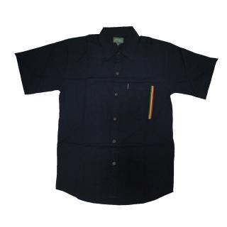 ラスタ ボタンシャツ(ブラック)