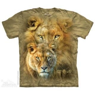アフリカンロイヤリティ Tシャツ (ライオン)