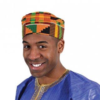 アフリカン ケンテ 帽子