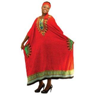 アフリカントラディショナル カフタン (赤)