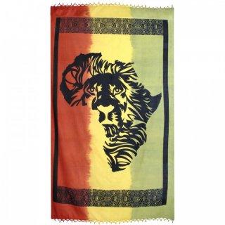 ラスタカラー ライオン アフリカ タペストリー(ベッドカバー・テーブルクロス)