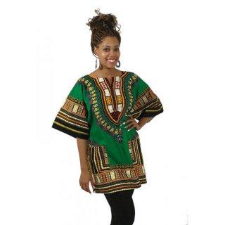 アフリカントラディショナル ダシキ (緑) 男女兼用