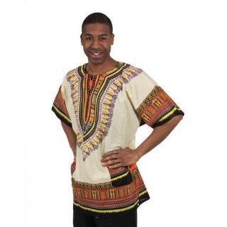 アフリカントラディショナル ダシキ (ナチュラル) 男女兼用