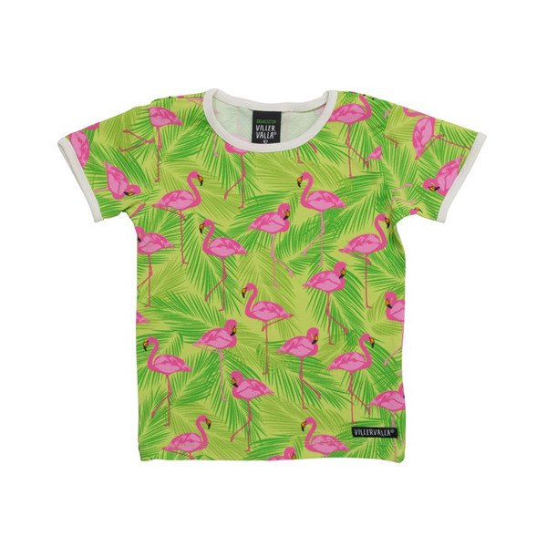 【キッズ Tシャツ】オーガニック フラミンゴ Tシャツ Villervalla(ヴィッレヴァッラ)