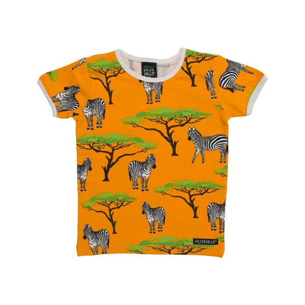 【キッズ Tシャツ】オーガニック シマウマ Tシャツ Villervalla(ヴィッレヴァッラ)