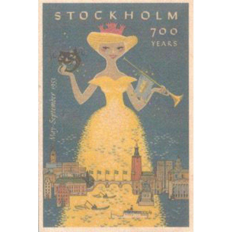 【木のはがき】ストックホルム700周年 / COME TO SWEDEN(カムトゥスウェーデン)木製ポストカード【クリックポスト配送…