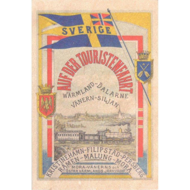 【木のはがき】東ヴェルムランド鉄道 / COME TO SWEDEN(カムトゥスウェーデン)木製ポストカード【クリックポスト配送…