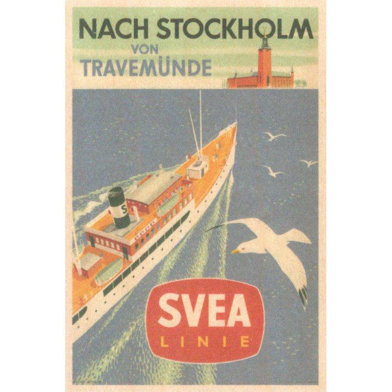 【木のはがき】スヴェアライン / COME TO SWEDEN(カムトゥスウェーデン)木製ポストカード【クリックポスト配送…