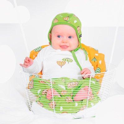 【BABYキャップ】新生児用ベビーハット(キウイ)  Villervalla(ヴィッレヴァッラ)