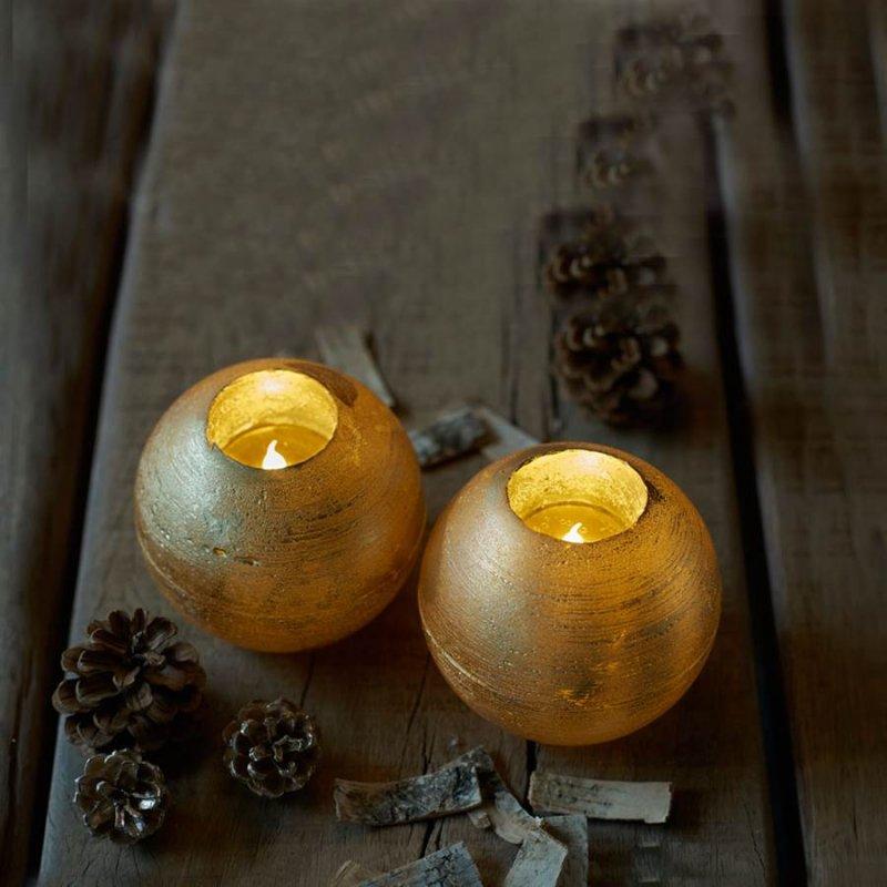 【LEDキャンドル】SIRIUS Mona(シリウス モナ) Sサイズ2個セット ゴールド LEDキャンドルライト