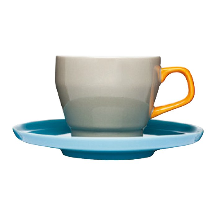 【コーヒーカップ&ソーサー】sagaform(サガフォルム) POP coffeecup with saucer  brown/orange/turquoise