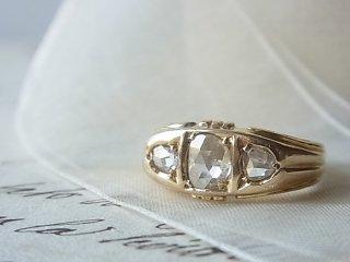 ダッチローズカットダイヤのリング