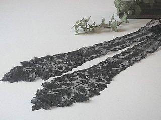 黒シャンテリーレースのラペット