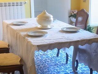 リバティ時代の花籠テーブルクロス