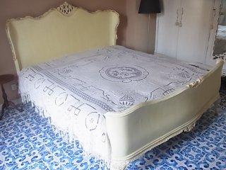 花籠と2人の天使のベッドカバー