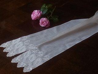 サンガッロレースの白いラペット