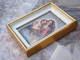 麗しい陶板画・聖母と幼子イエス