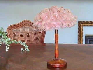 儚げピンク・アールデコの羽根帽子