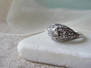 アールデコのボンバダイヤリング
