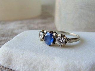 天然サファイア&ダイヤのリング