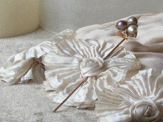 天然真珠3色のクラバットピン
