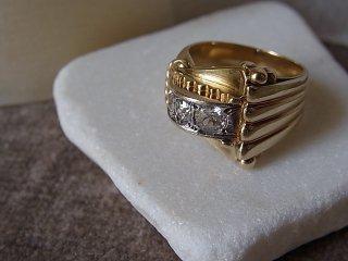 ダイヤ&ゴールドアールデコリング