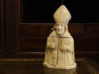 19世紀・象牙彫刻の教皇像