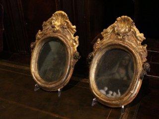 フィレンツェの手彫り&鏡付の額縁
