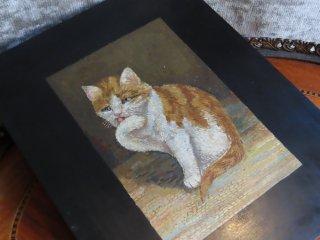 愛くるしい子猫のモザイクプレート