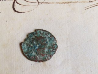 古代ローマ時代の銀のコイン