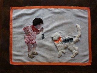 「猫ちゃんに?」の縫い取り作品