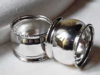 銀のナプキンリング (2個セット)