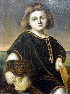 「少年と愛犬」