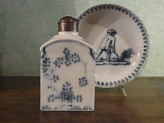 アンティークマイセン 藍色の紅茶壺