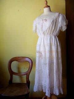 可憐なモスリンリネンロングドレス