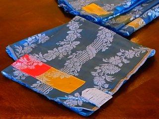 ジャガード織シルクテキスタイル