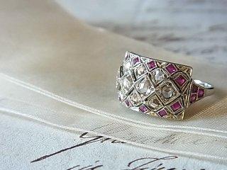 ルビー&ダイヤモンドのリング