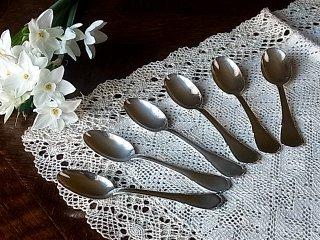 銀の小さなティースプーン・6本Set