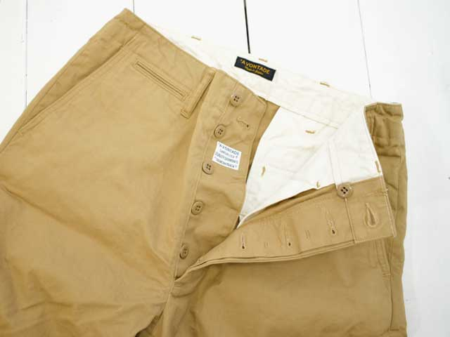 A VONTADE (アボンタージ) <br>Type 45 Chino Trousers - Wide Fit - Beige(VTD-0340-PT) チノパン