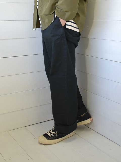 A VONTADE (アボンタージ) <br>Type 45 Chino Trousers - Wide Fit - black (VTD-0340-PT) チノパン