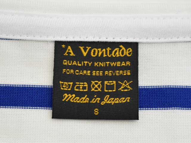 A VONTADE (アボンタージ) Boatneck3/4sleeve -Border- (VTD-0550-CS) 7分カットソー