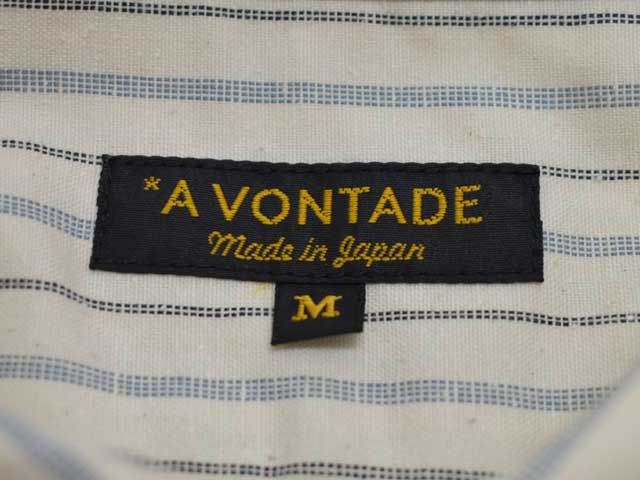 A VONTADE (アボンタージ) Classic Pullover Shirts (VTD-0346-SH) ワークシャツ