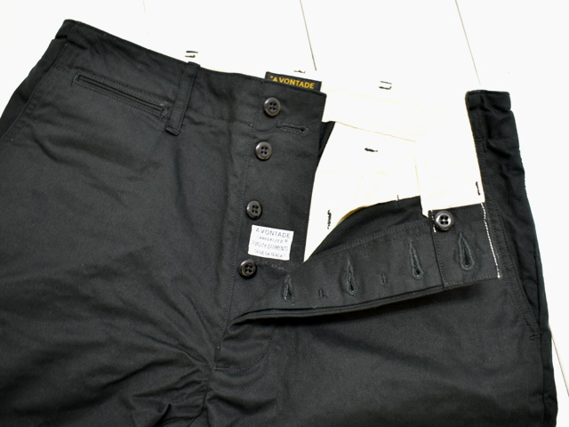 A VONTADE (アボンタージ) <br>Type 45 Chino Trousers - Wide Fit - (VTD-0340-PT) チノパン