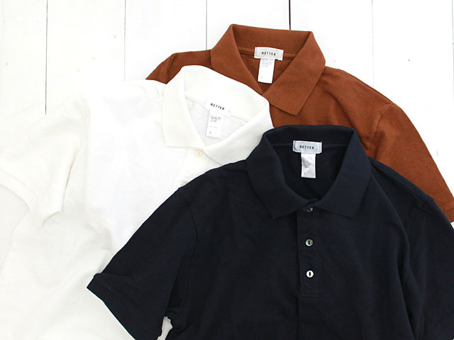 BETTER RAFFY PIQUE TUCK POLO 鹿の子ポロシャツ