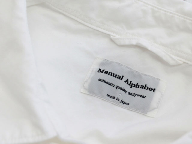 manual alphabet LOOSE FIT REGULAR COLLAR S/S SHT