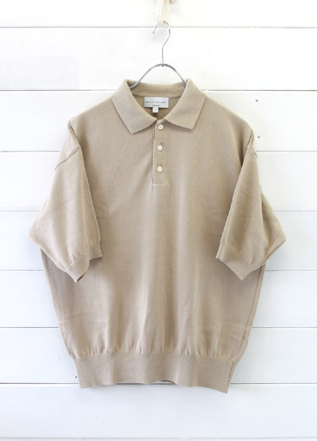 MANUAL ALPHABET (マニュアルアルファベット)<br>ALL TIME KNIT SS POLO (MA-K-013)