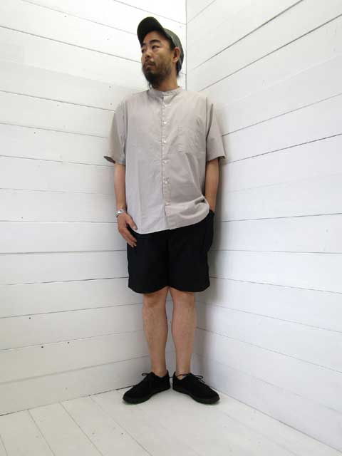 MANUAL ALPHABET (マニュアルアルファベット)<br>LOOSE FIT BAND COLLAR S/S SHT (MA-S-476)